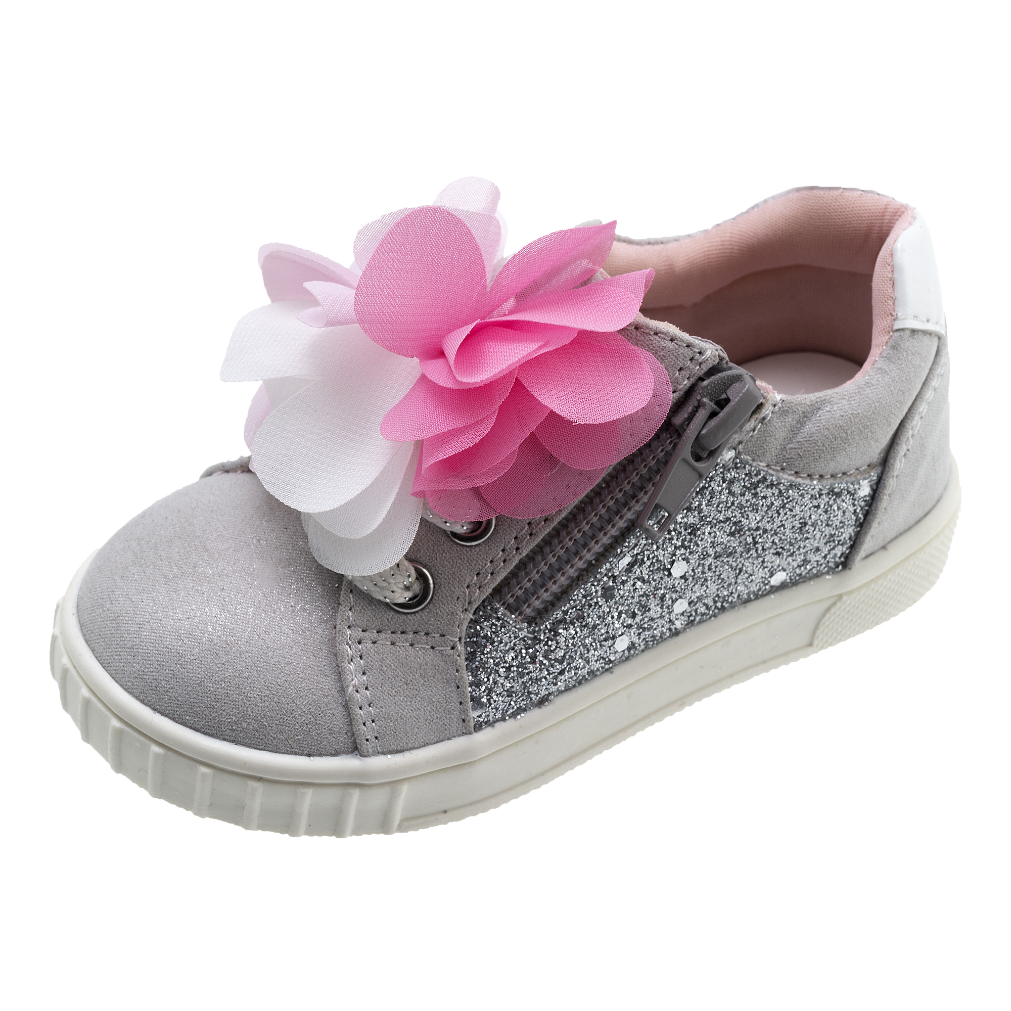 Pantofi copii Chicco Carmen gri cu roz