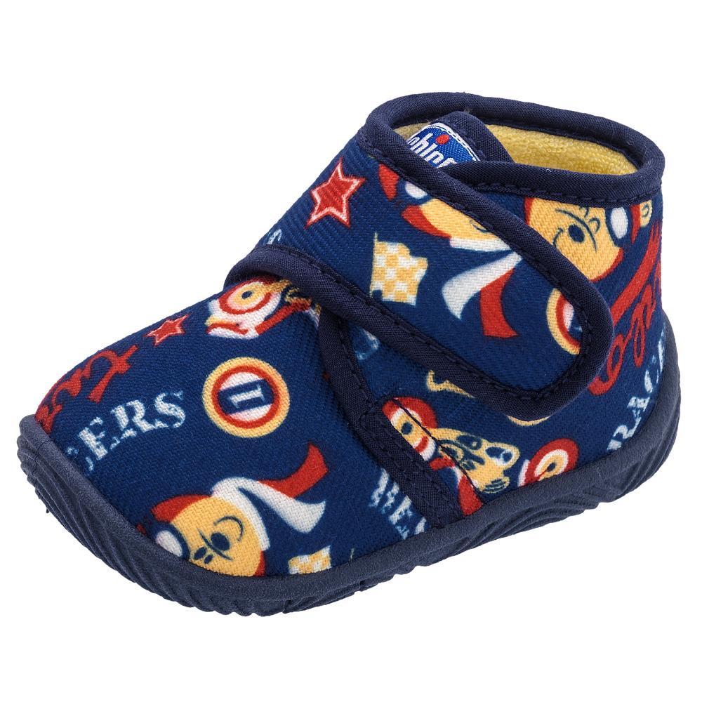 Pantof de casa Chicco tip gheata material textil albastru 30