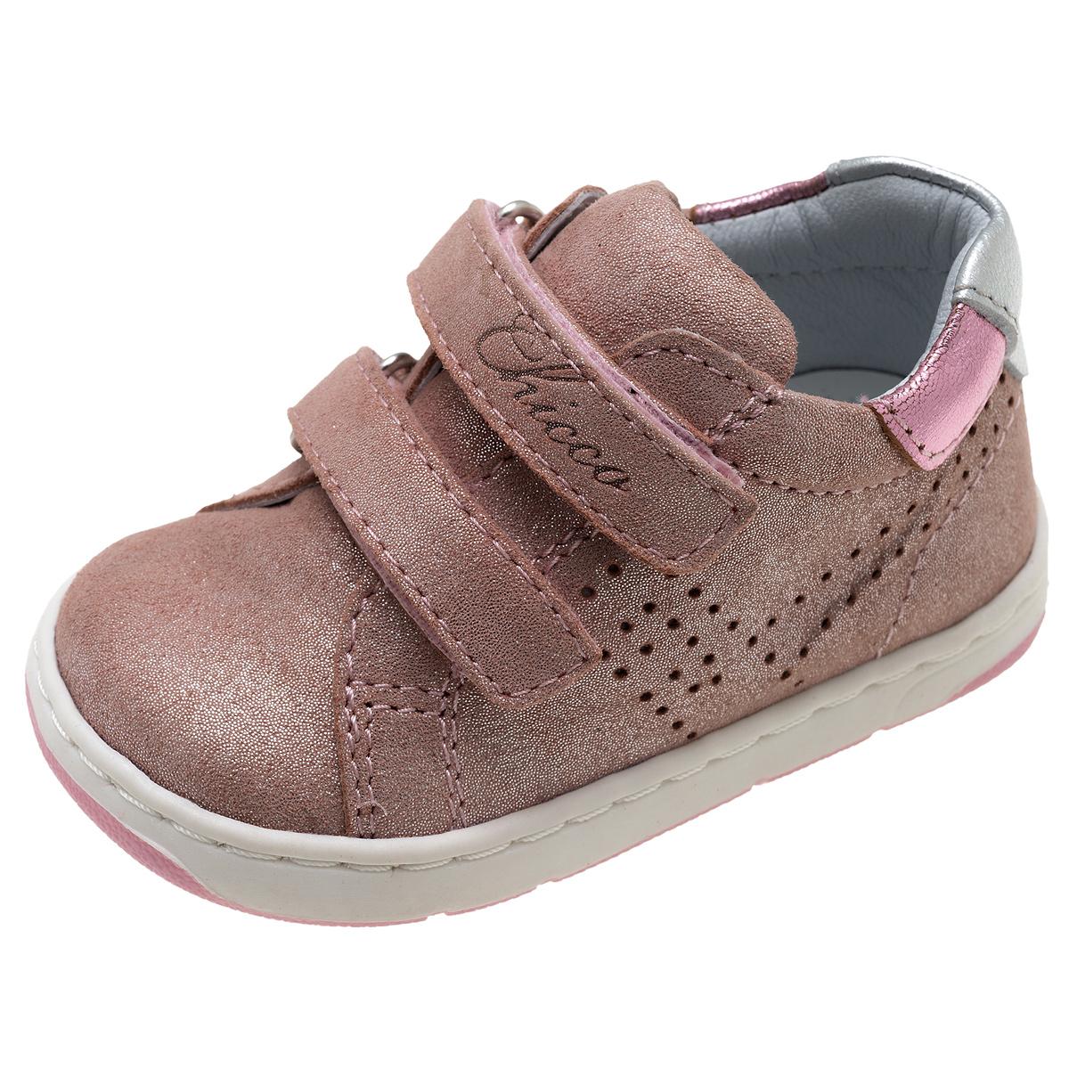 Pantof sport pentru fetite, Chicco Gyron, piele roz cu sclipici, 61536 din categoria Pantofi sport copii
