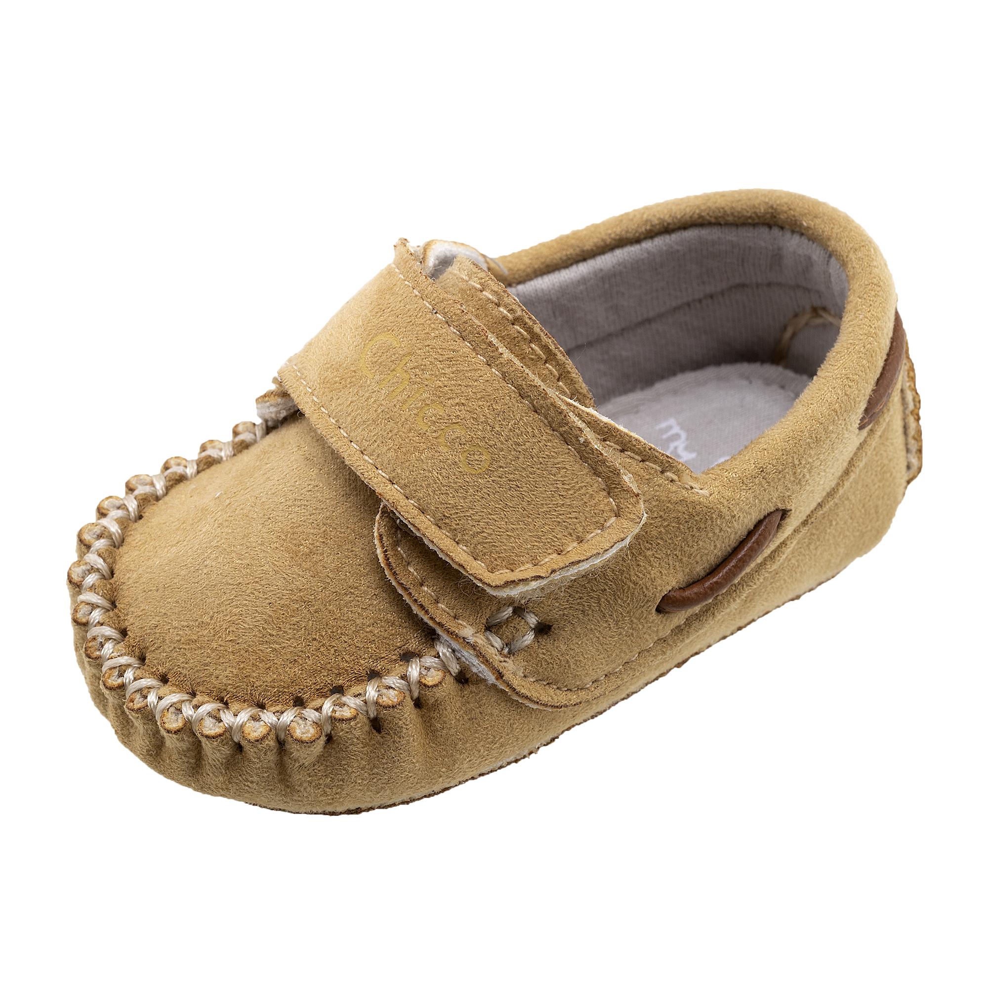 Pantofi copii Chicco Olivio cu snur bej