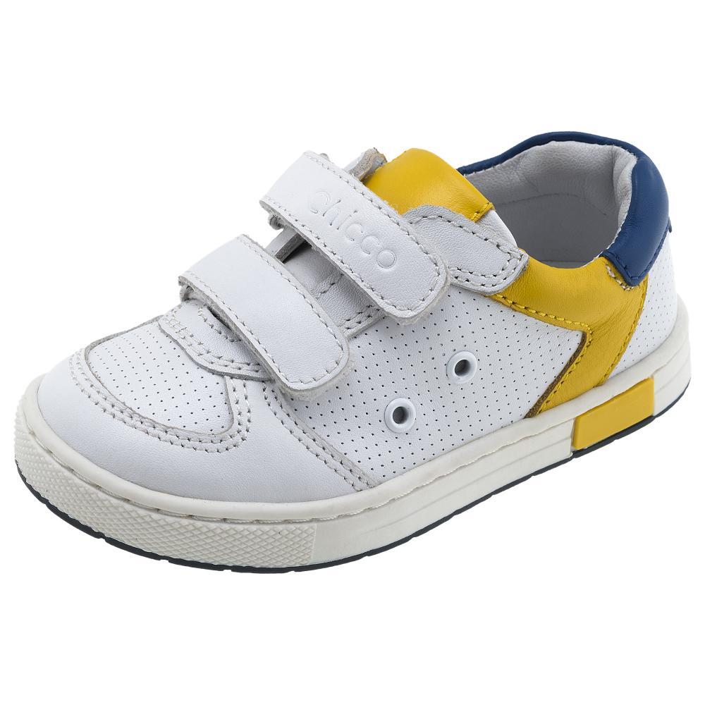 Pantof sport, 100% piele naturala, alb