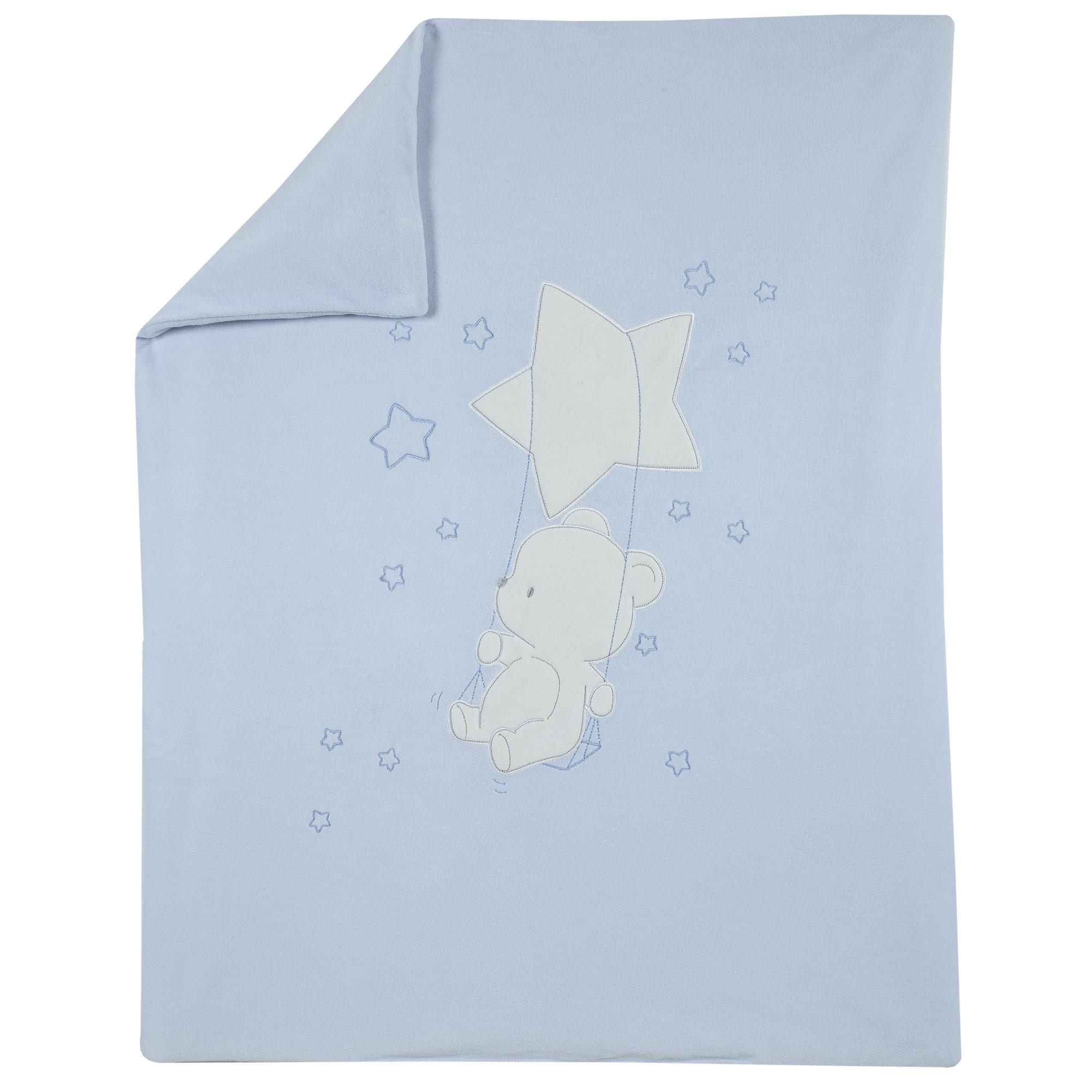 Plapuma copii velur Chicco, albastru, 05045 din categoria Patura, Cearsaf, Husa