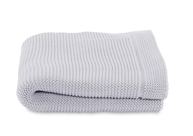 Paturica Tricot Pentru Bebelusi - Chicco, Light Grey, 0luni+ imagine