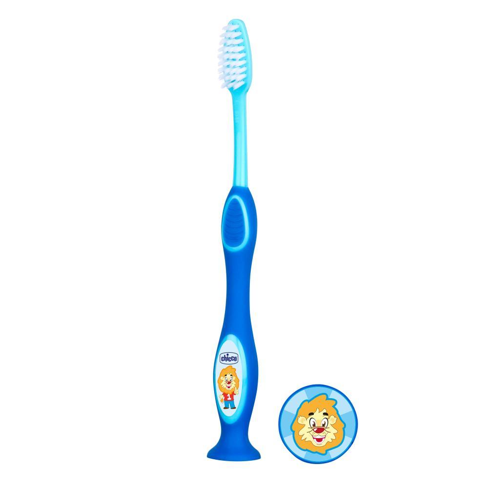 Chicco Periuta pentru dinti de lapte Chicco 3-6 ani bleu