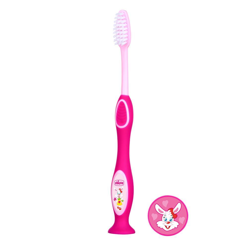 Chicco Periuta pentru dinti de lapte Chicco 3-6 ani roz