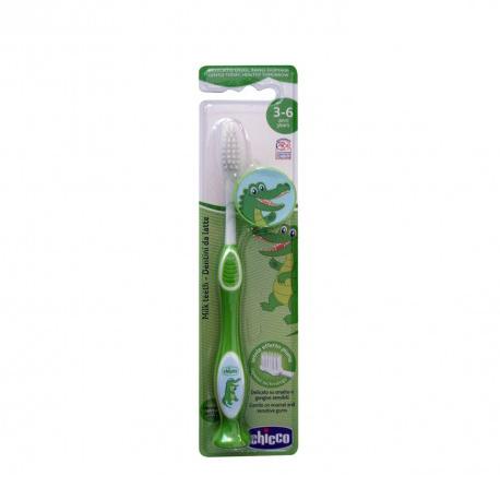 Periuta Pentru Dinti De Lapte Chicco, 3-6 Ani, Verde imagine
