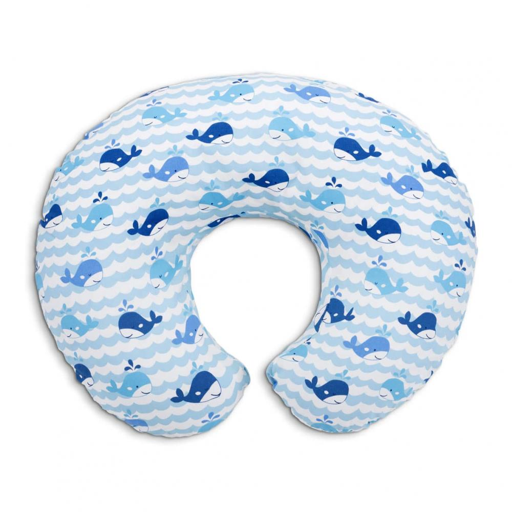 Perna alaptare Chicco Boppy 4 in 1 Blue Whales