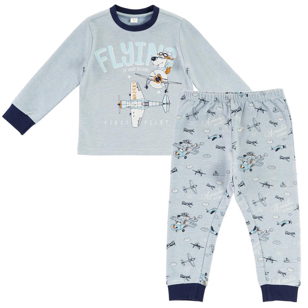 Pijama copii Chicco maneca lunga turcoaz 116