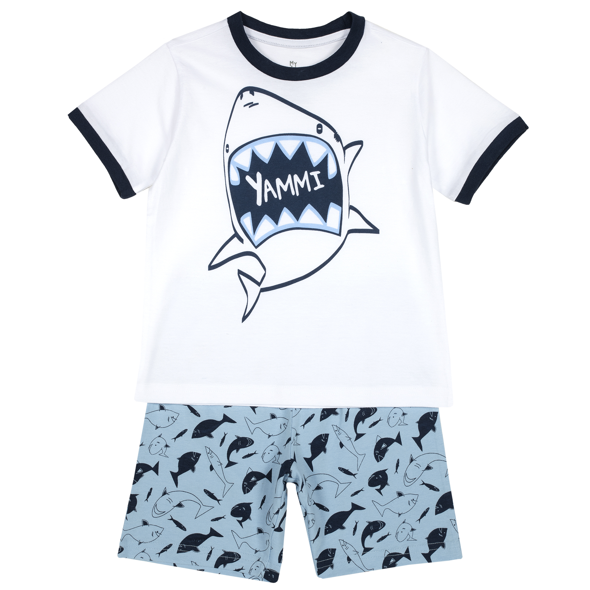 Pijama copii Chicco, maneca scurta, turcoaz, 35363 din categoria Pijamale copii