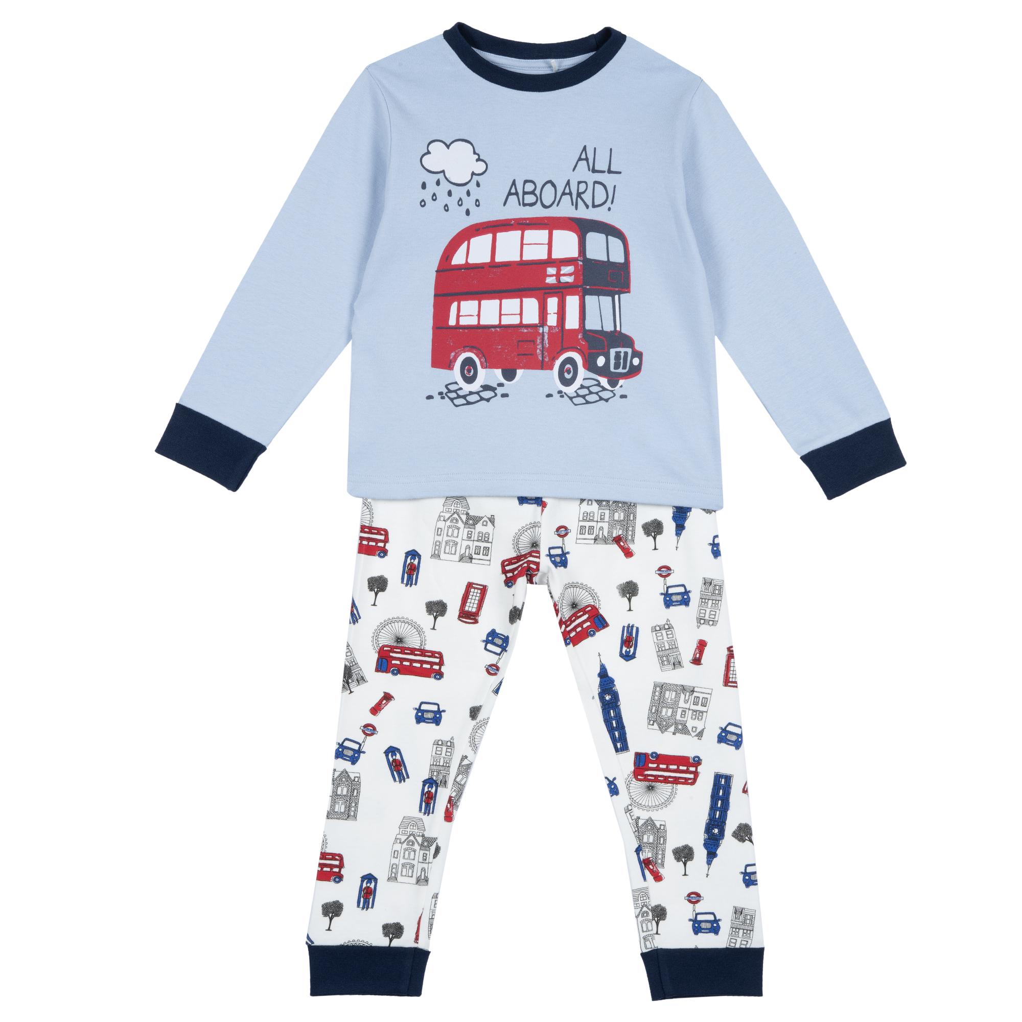 Pijama Copii Chicco, Bluza Si Pantaloni, Turcoaz, 31074 imagine