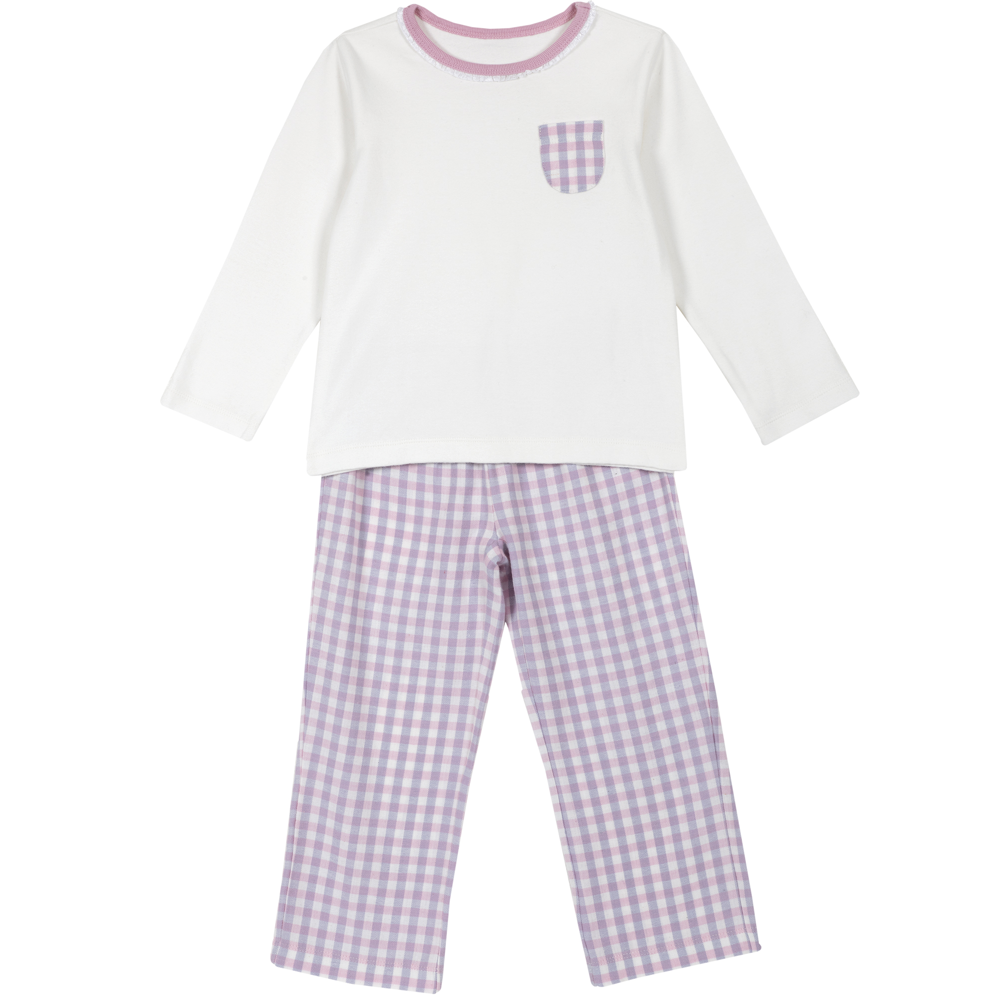 Pijama copii Chicco, alb