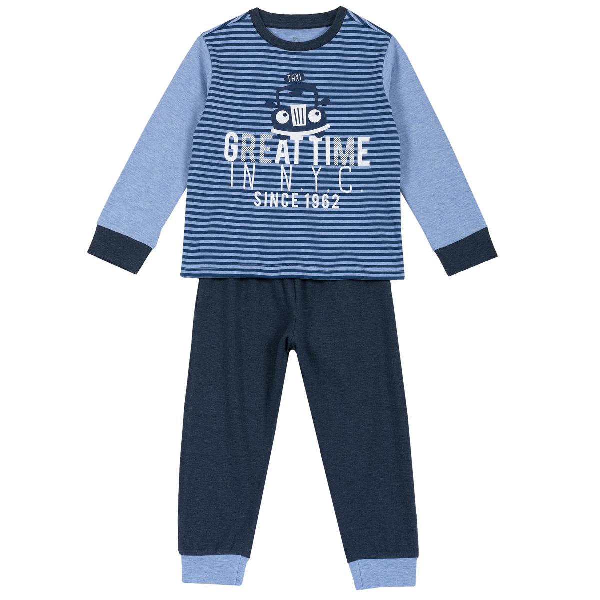 Pijama copii Chicco, maneca lunga, albastru, 31286