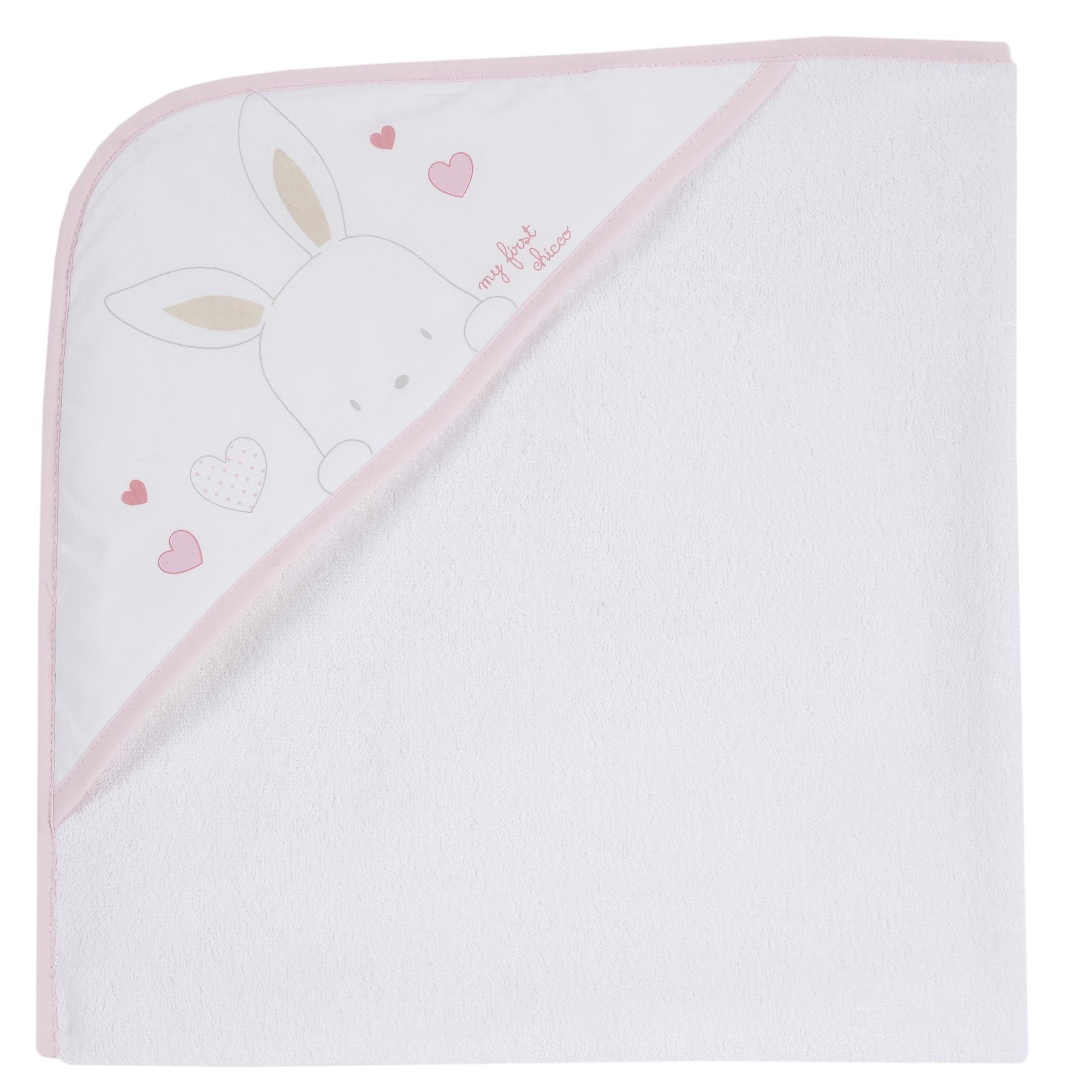 Prosop baie bebelusi Chicco alb cu roz 99