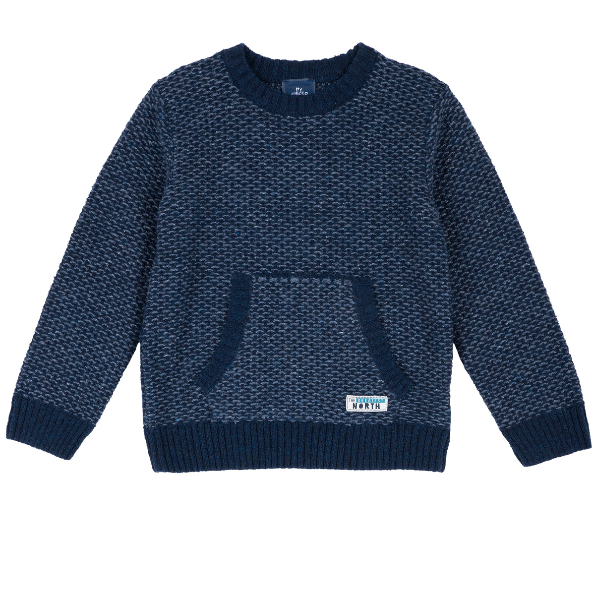 Pulover copii Chicco, tricotat, buzunar frontal aplicat, 69387