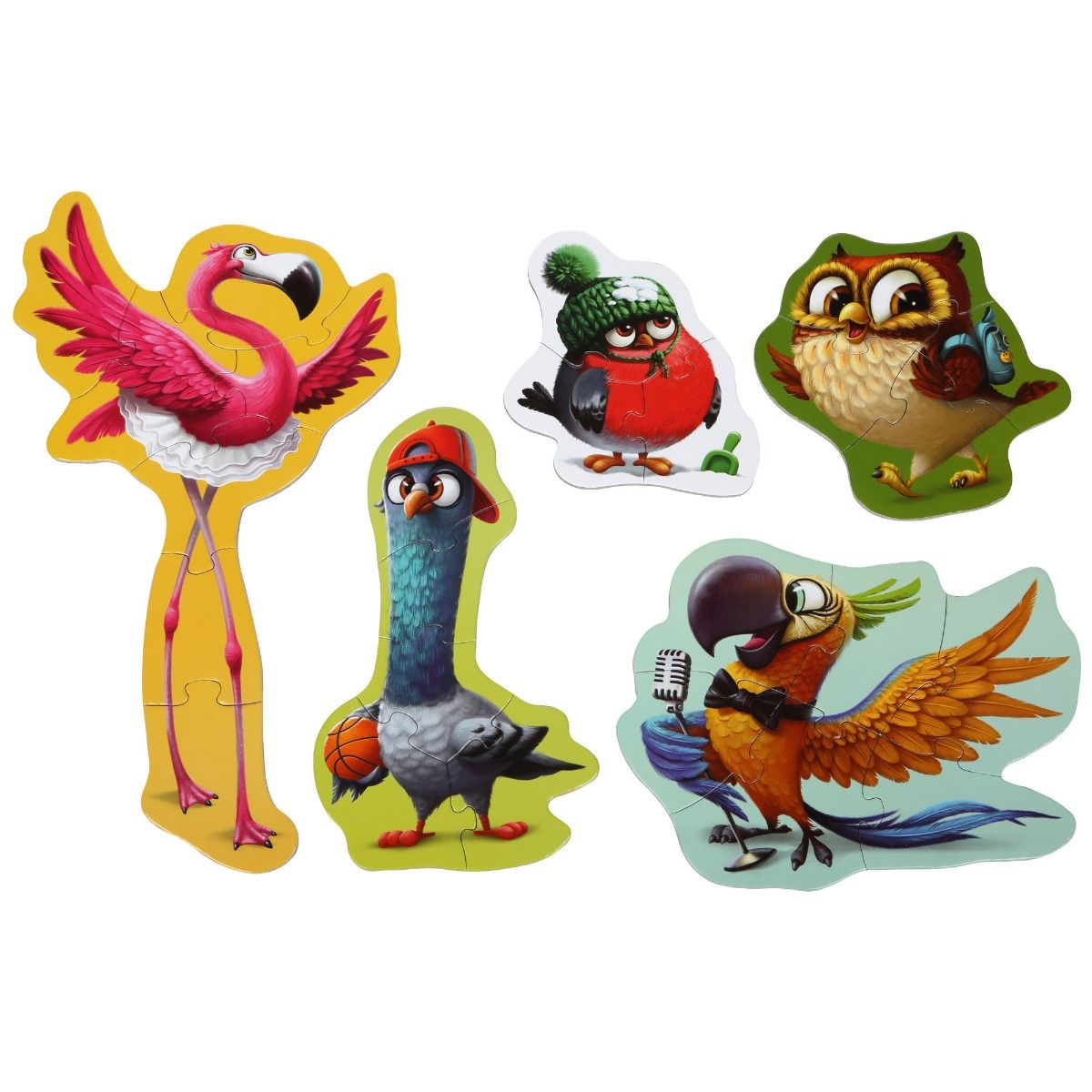 """""""PUZZLE Cubika, 5 In 1 Cubika, """"""""BIRDS"""""""" """" imagine"""
