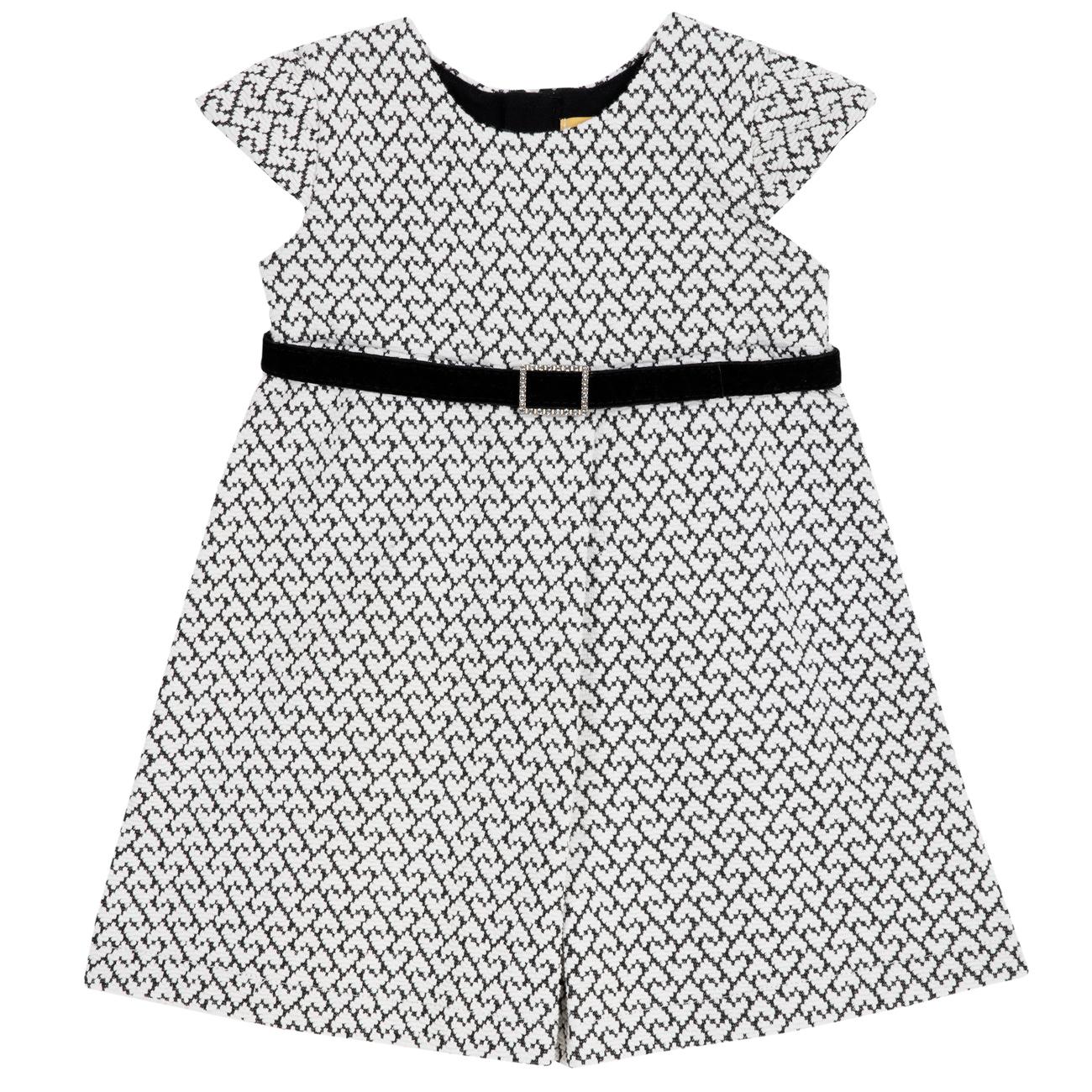 Rochie copii Chicco, alb cu negru