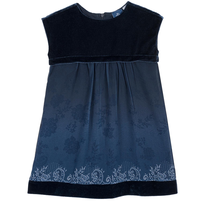 Rochie copii Chicco albastru inchis 98