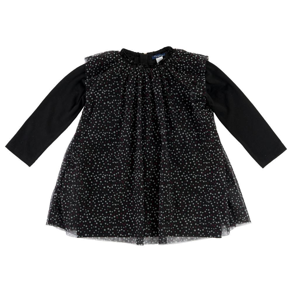 Rochie copii Chicco, maneca lunga, negru