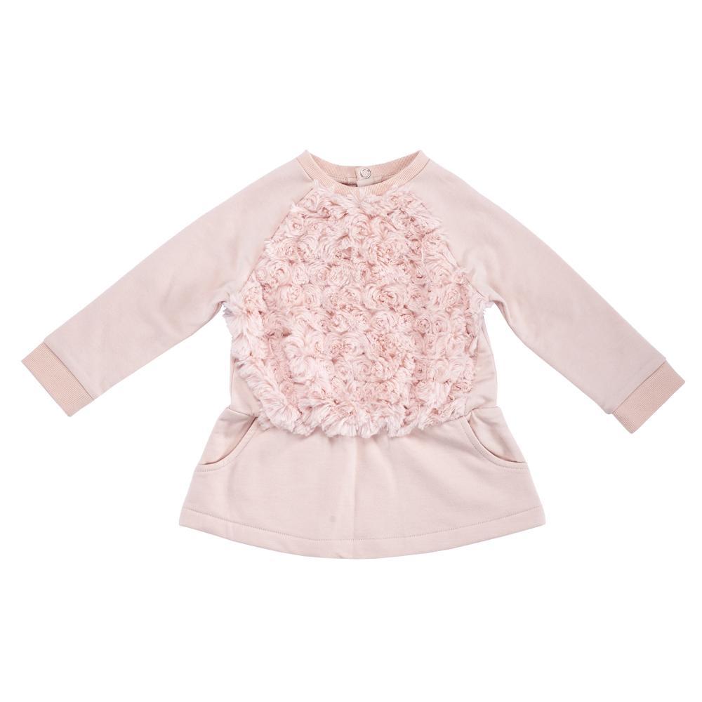 Rochie fetite Chicco maneca lunga roz 74