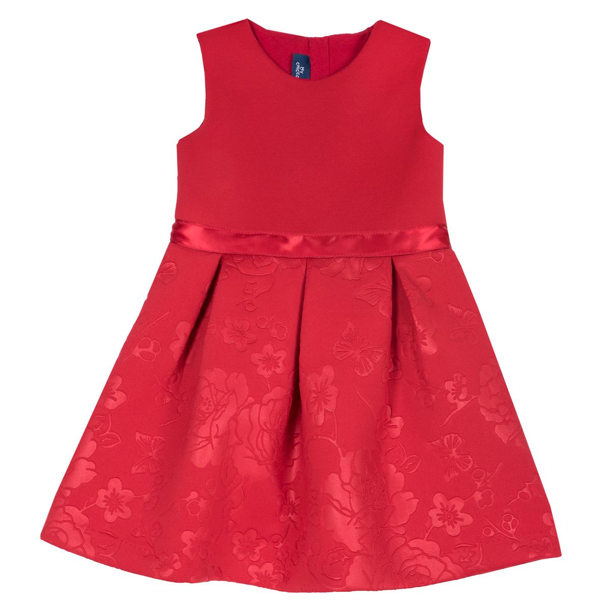 Rochita copii eleganta Chicco, fara maneci, rosu 03604 din categoria Rochii, Fuste