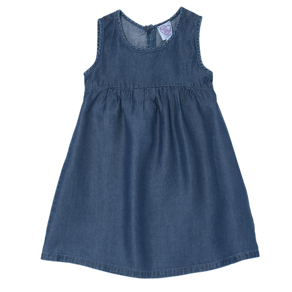 Rochie copii Chicco, fara maneci, albastru
