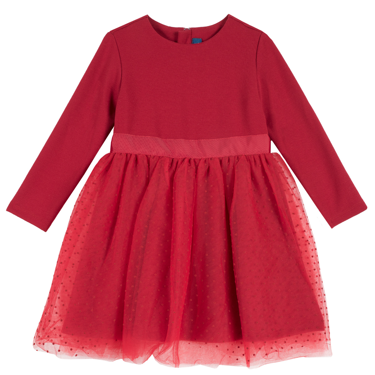 Rochie copii Chicco, volan din tulle, rosu, 03567