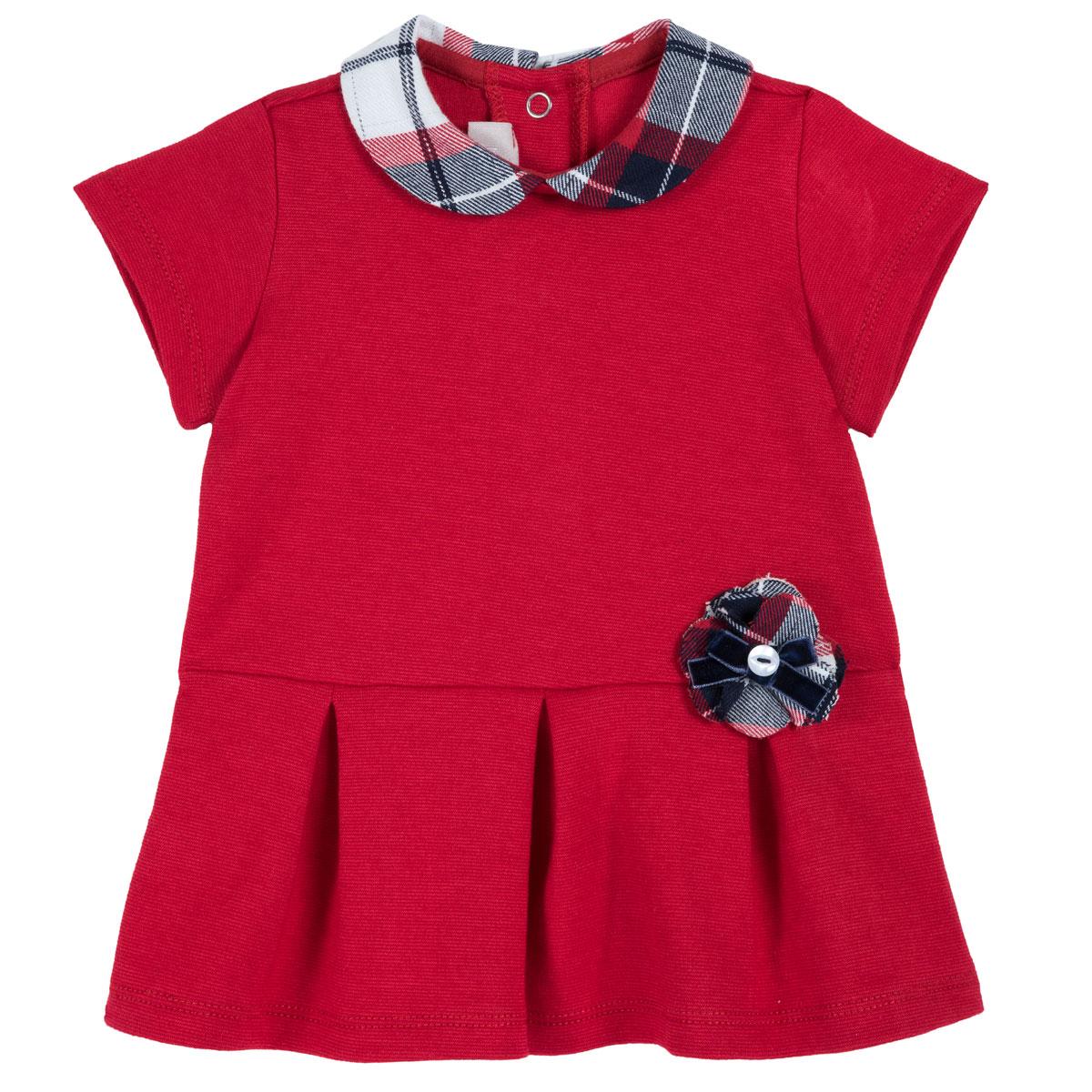 Rochie copii Chicco, maneci scurte, rosu, 03526 din categoria Rochii, Fuste
