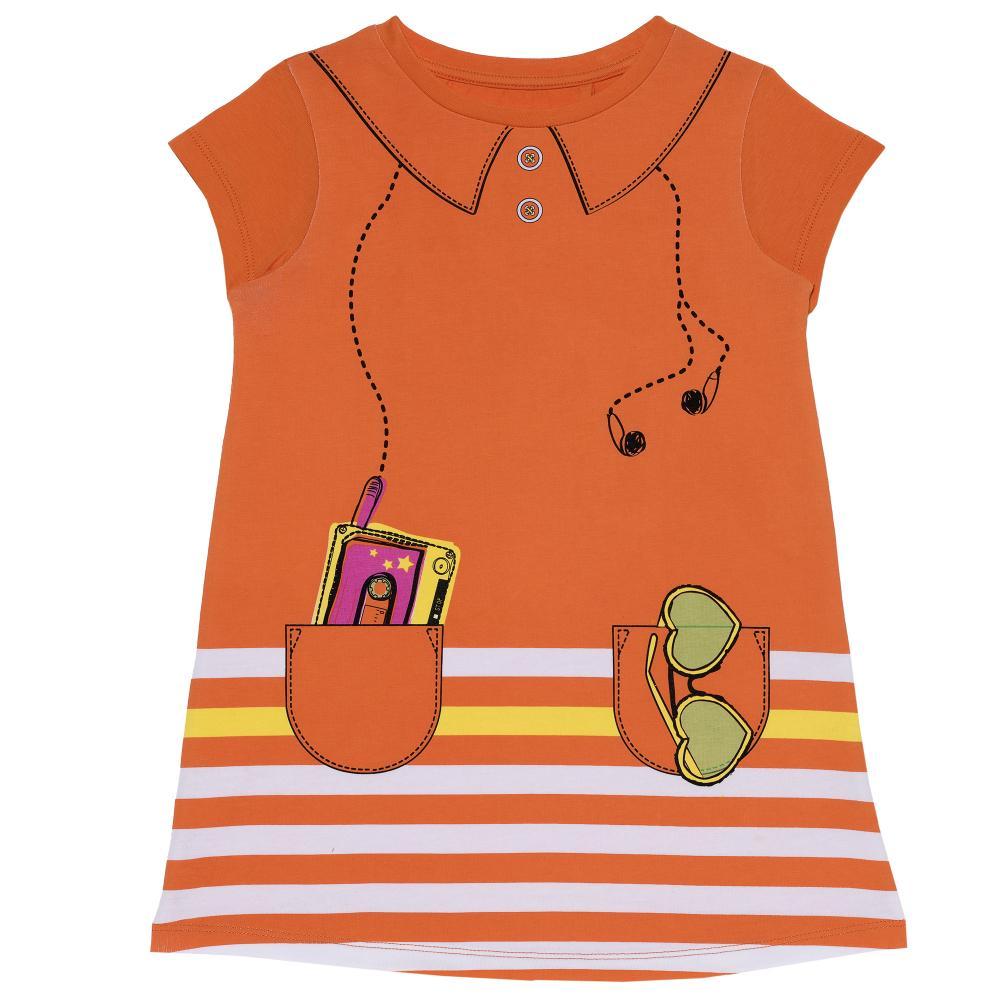 Rochie fete Chicco, maneca scurta, portocaliu