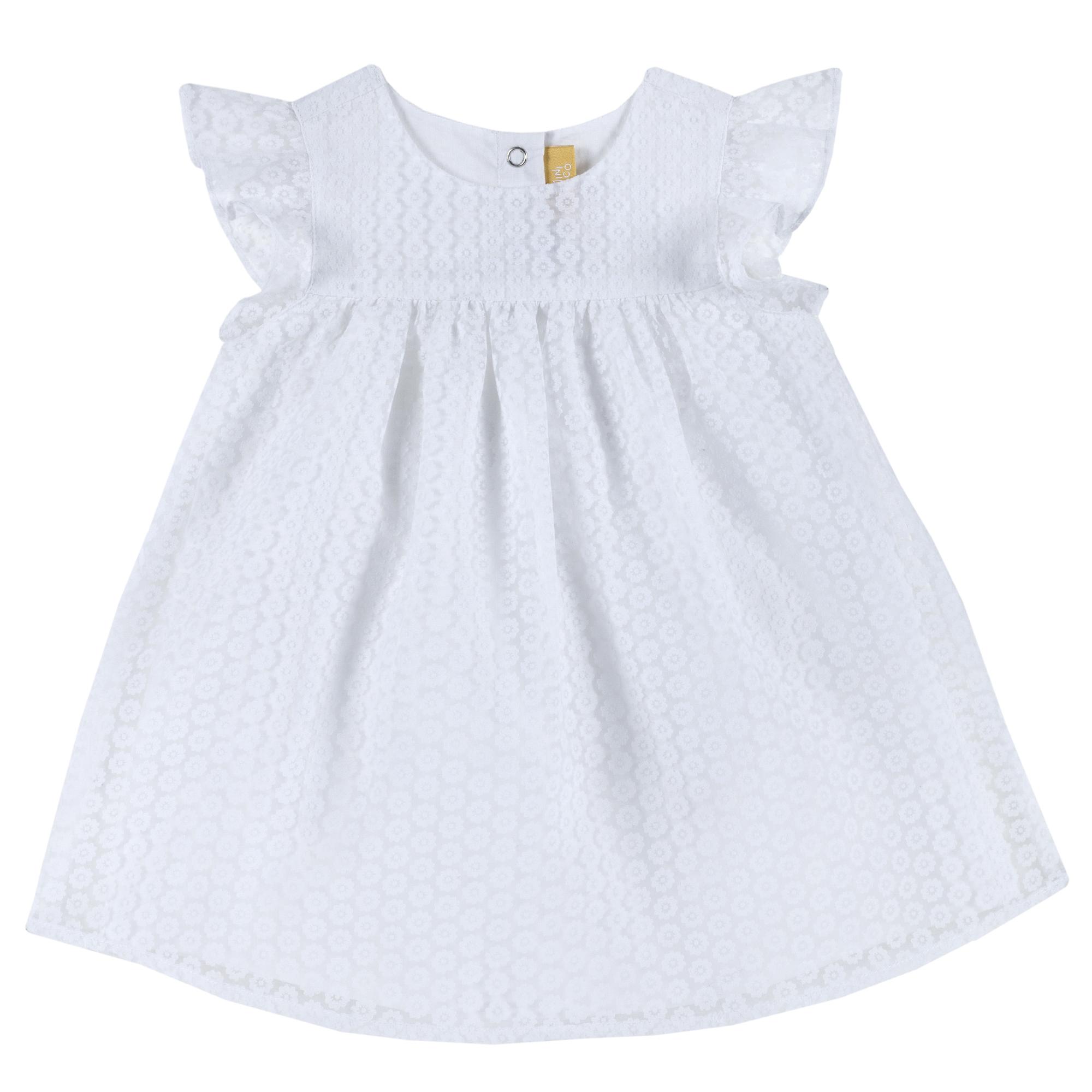 Rochita copii Chicco, maneca scurta, alb, 03422