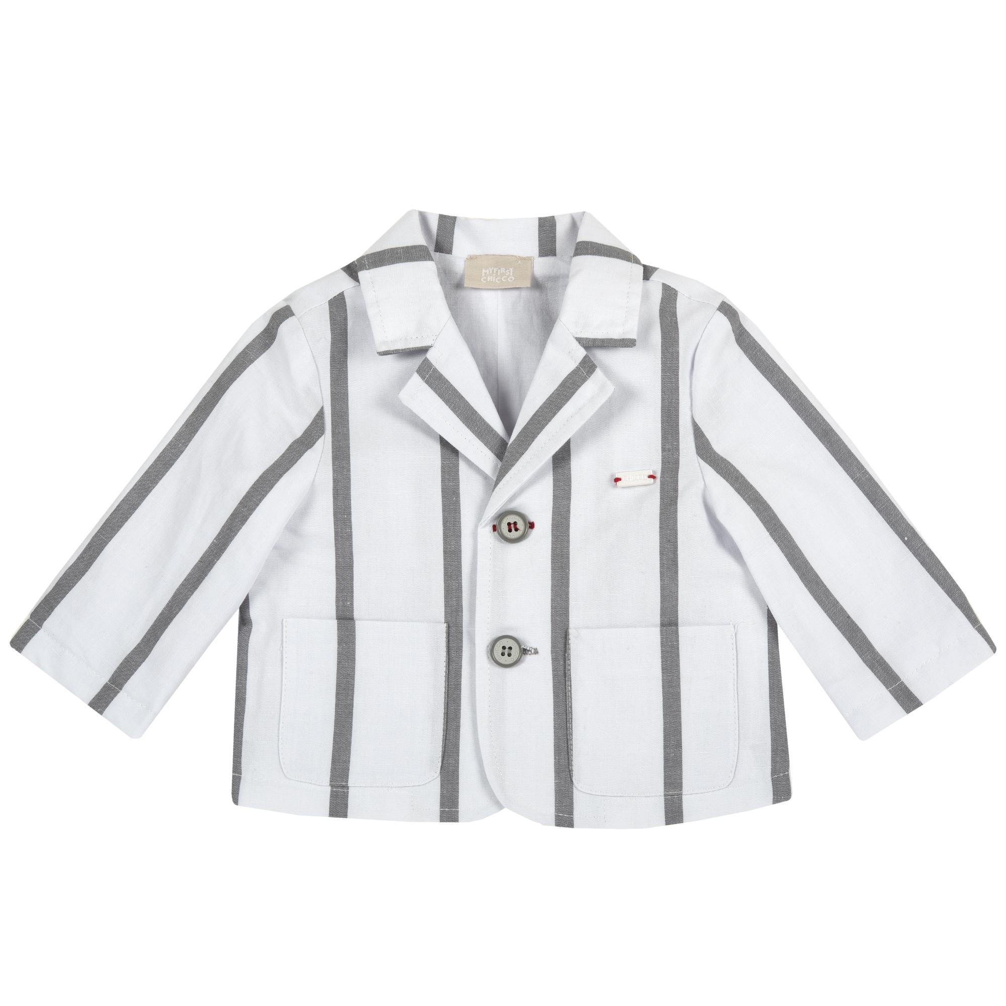 Jacheta copii Chicco tip sacou, alb, 84346
