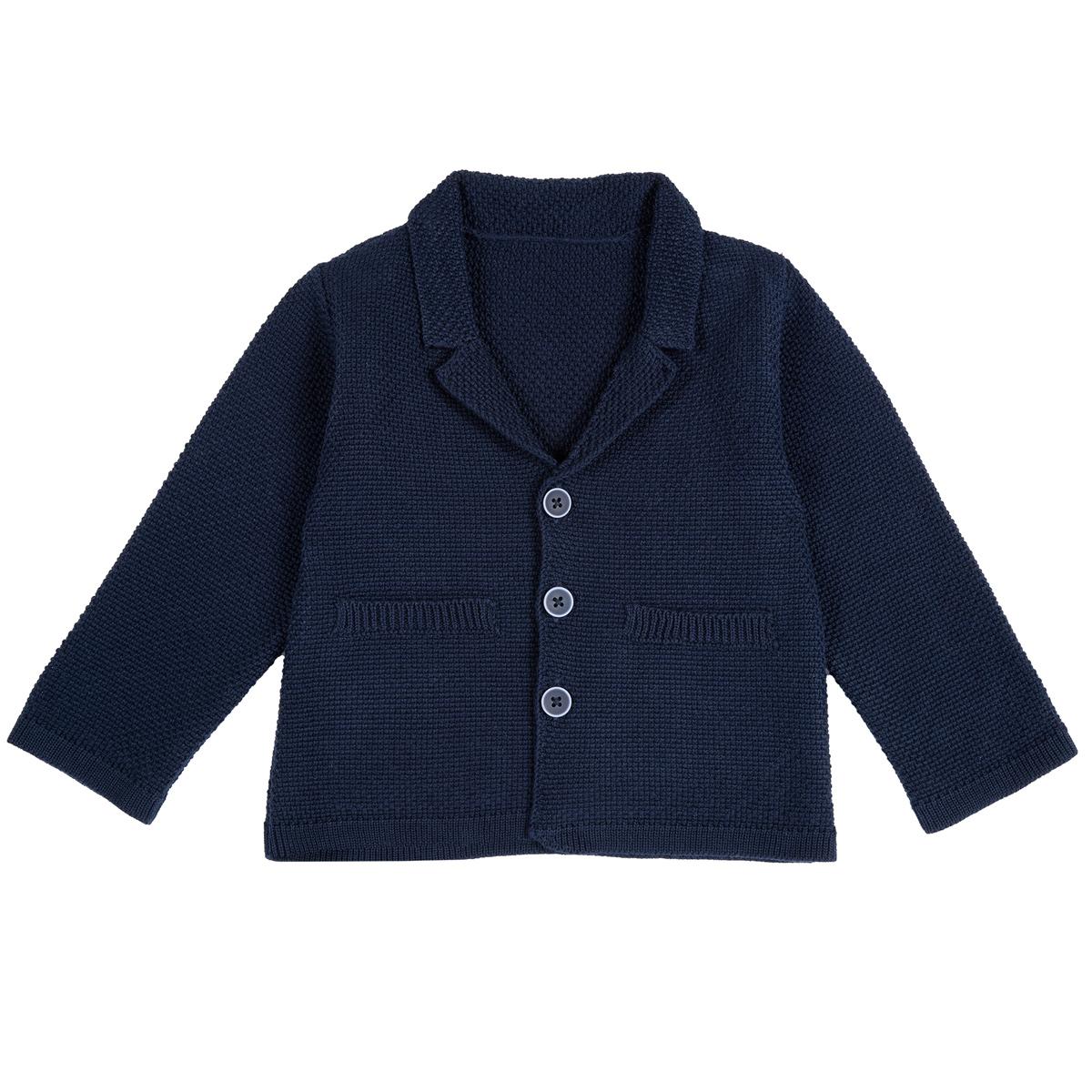 Jacheta Copii Chicco, Tricotata, Albastru, 09419 imagine