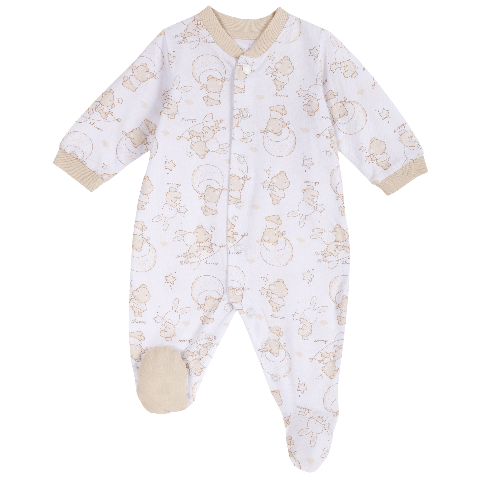 Salopeta bebe Chicco, inchidere intre picioare, multicolor, 21804 din categoria Salopete/Body
