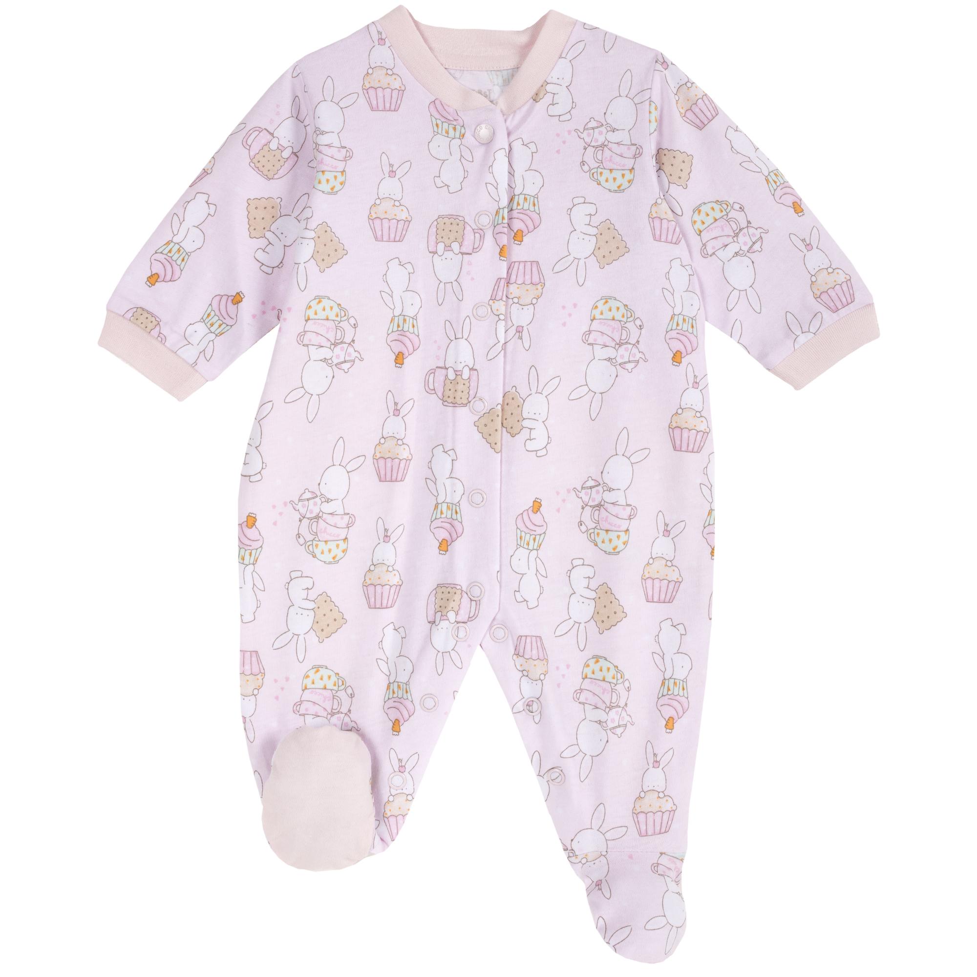 Salopeta bebe Chicco, inchidere intre picioare, roz, 21804 din categoria Salopete/Body