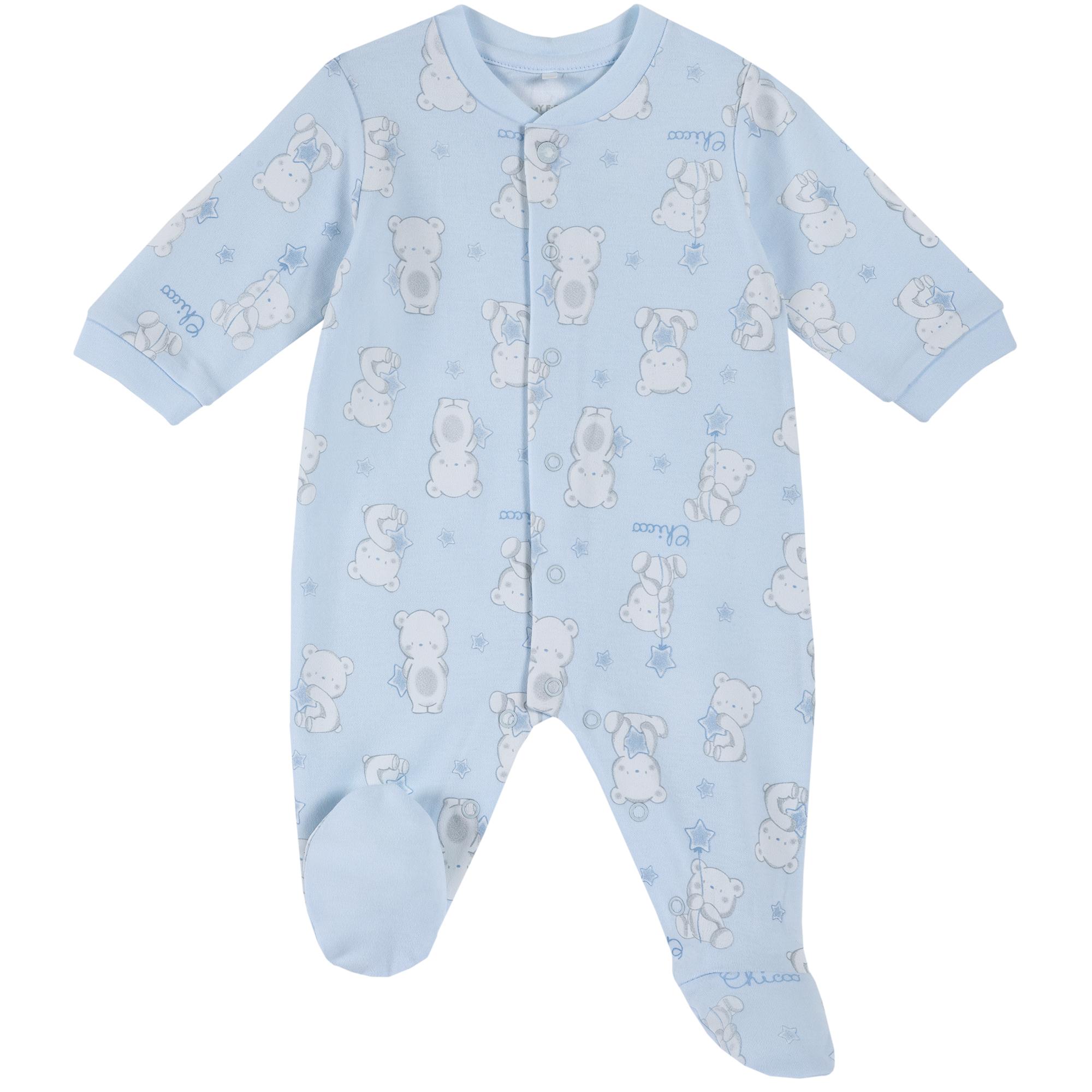 Salopeta copii Chicco, bleu, imprimeu ursuleti, 21862