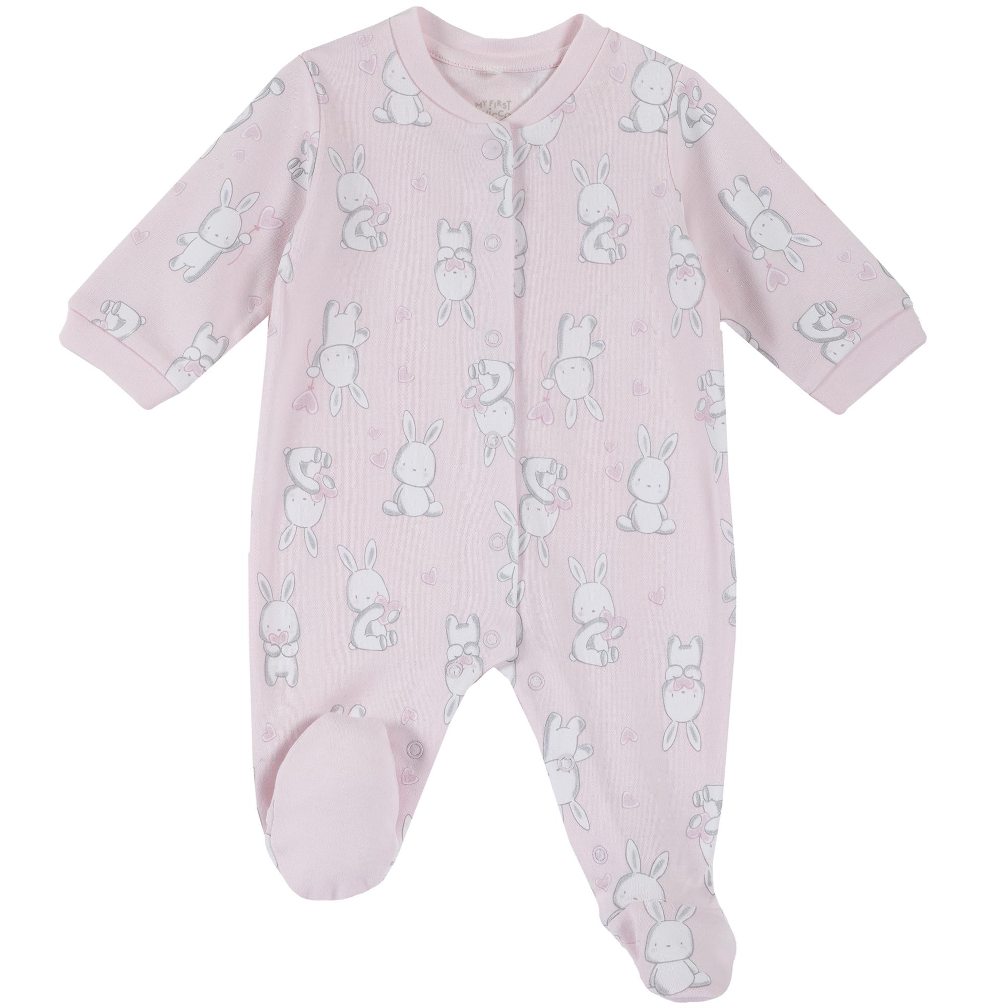Salopeta copii Chicco, roz, imprimeu ursuleti, 21862 din categoria Salopete/Body