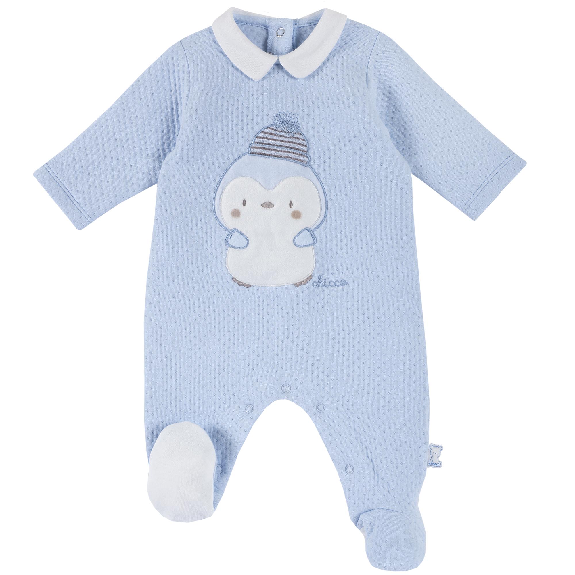 Salopeta bebe matlasata Chicco, botosei, albastru, 21860