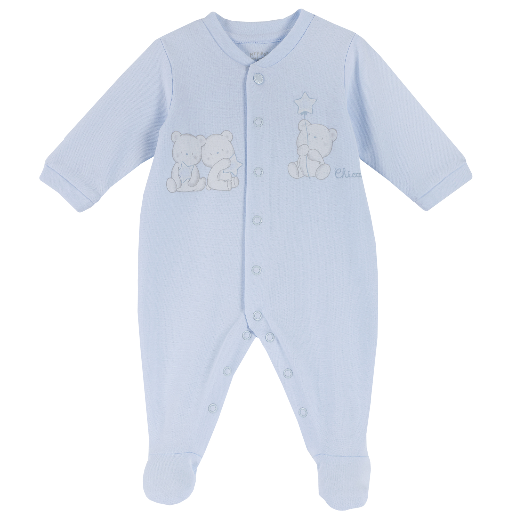 Salopeta copii Chicco, albastru, imprimeu ursuleti, 21867 din categoria Salopete/Body