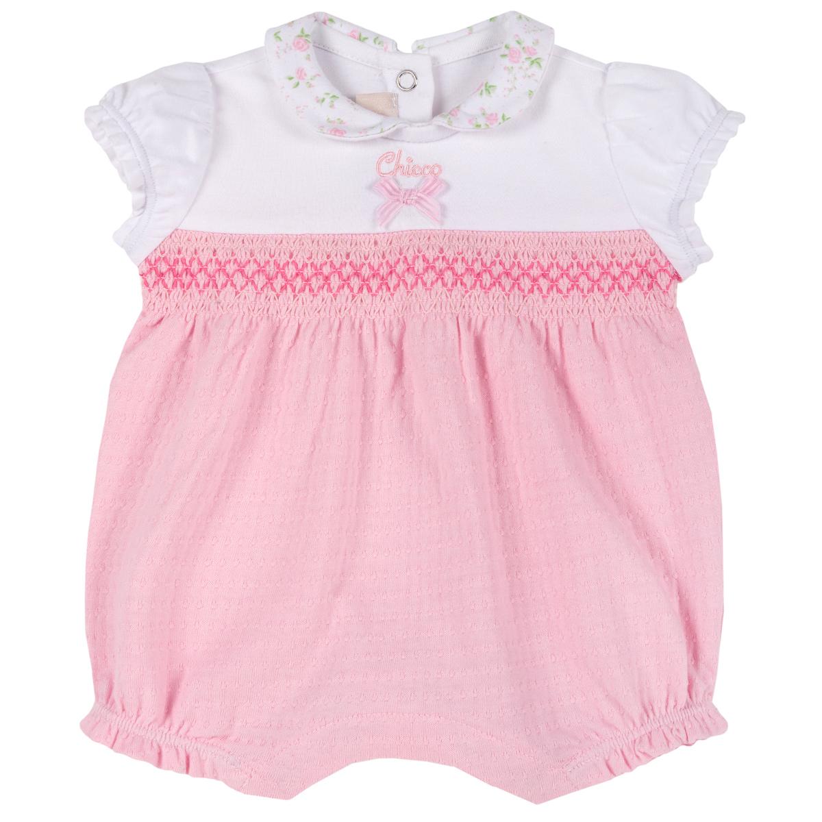 Body Pentru Bebelusi Chicco, Alb Cu Roz, 50822 imagine