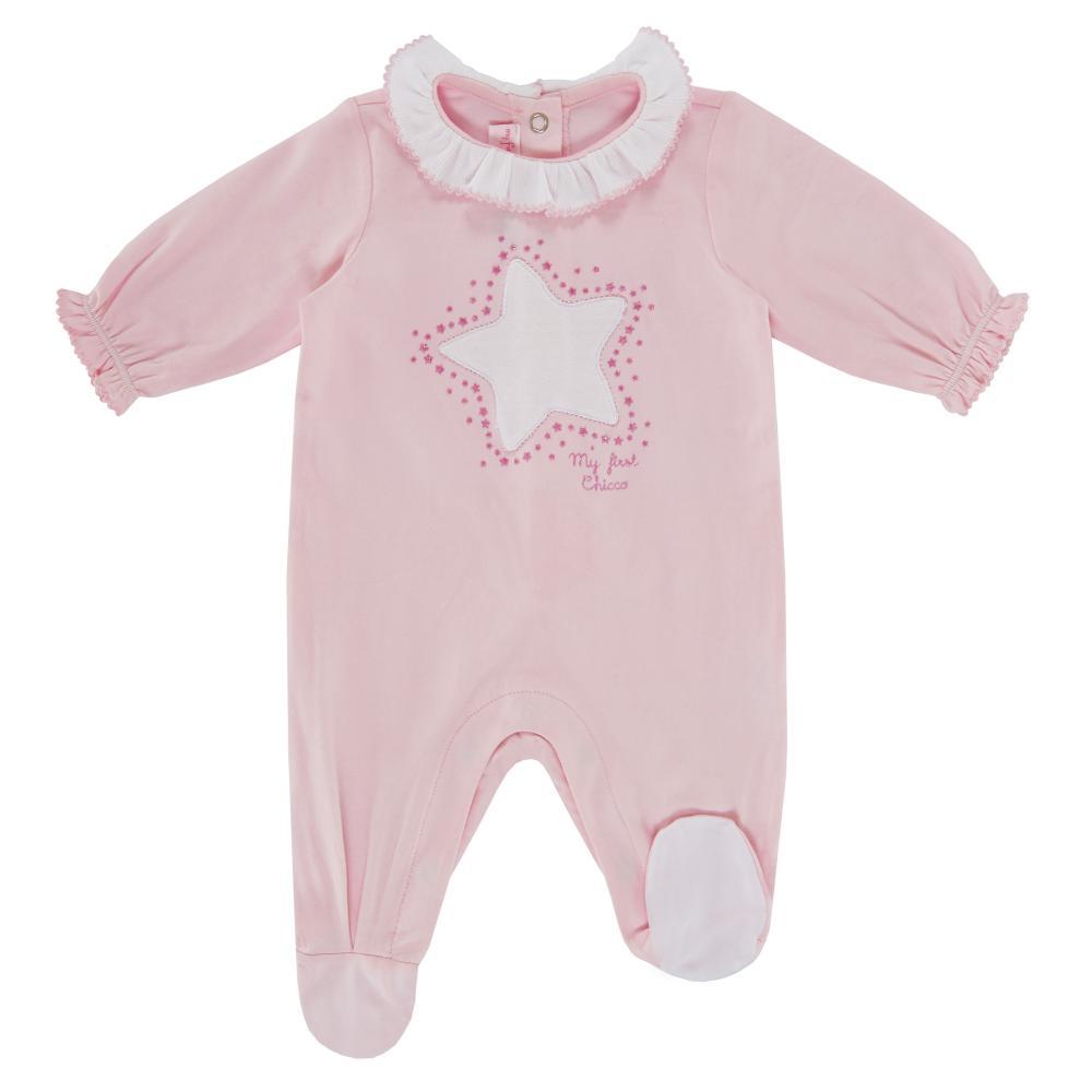 Salopeta bebelusi Chicco, cu botosei incorporati, inchidere spate, fetite, roz, 21596