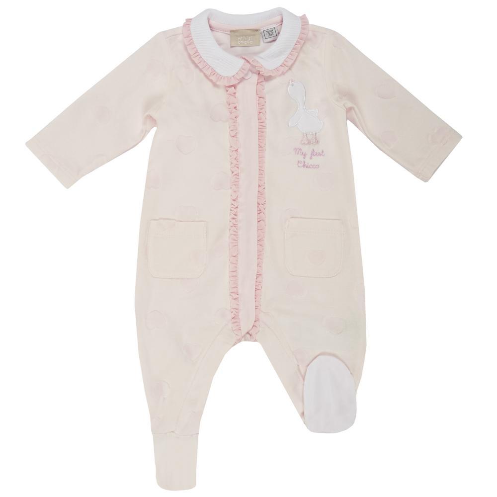 Salopeta bebelusi Chicco cu botosei incorporati inchidere fata fetite roz 50