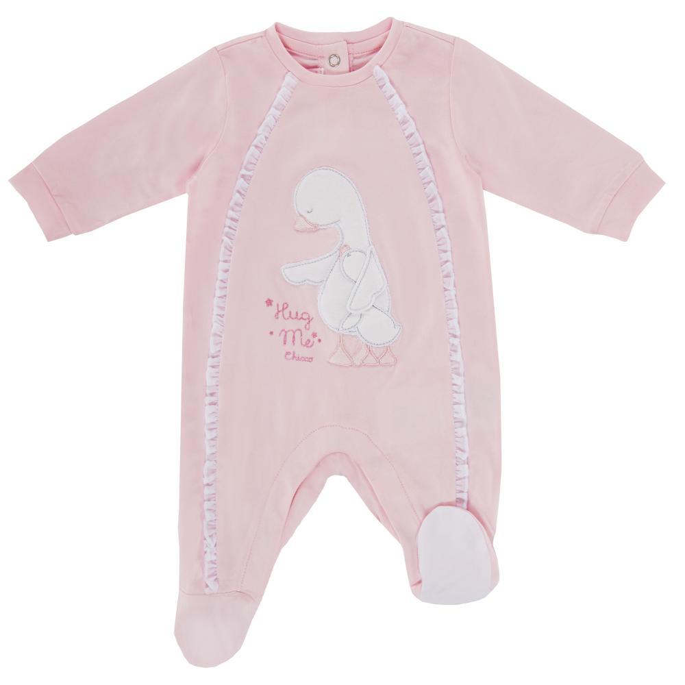 Salopeta bebelusi Chicco, cu botosei incorporati, inchidere spate, fetite, roz