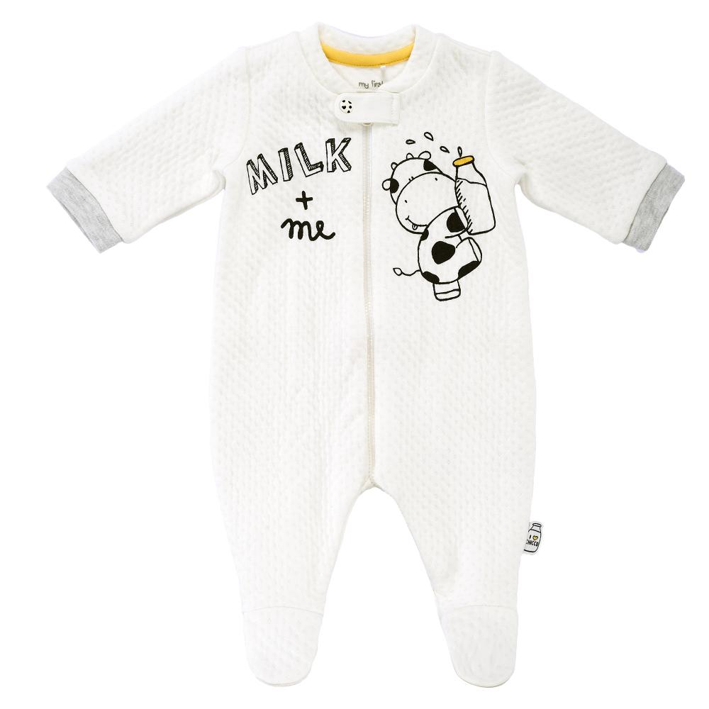 salopeta bebelusi chicco, deschidere fata, alb