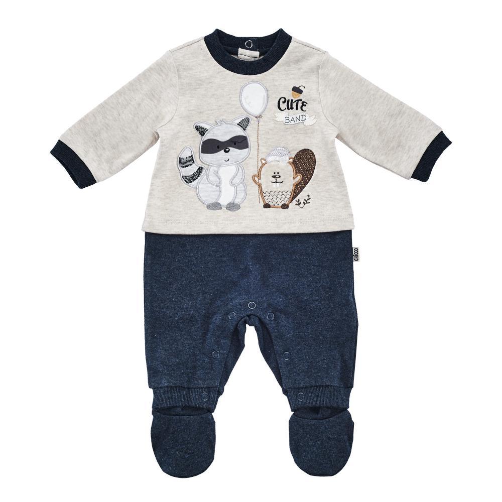 Salopeta bebelusi Chicco, deschidere picioare, albastru