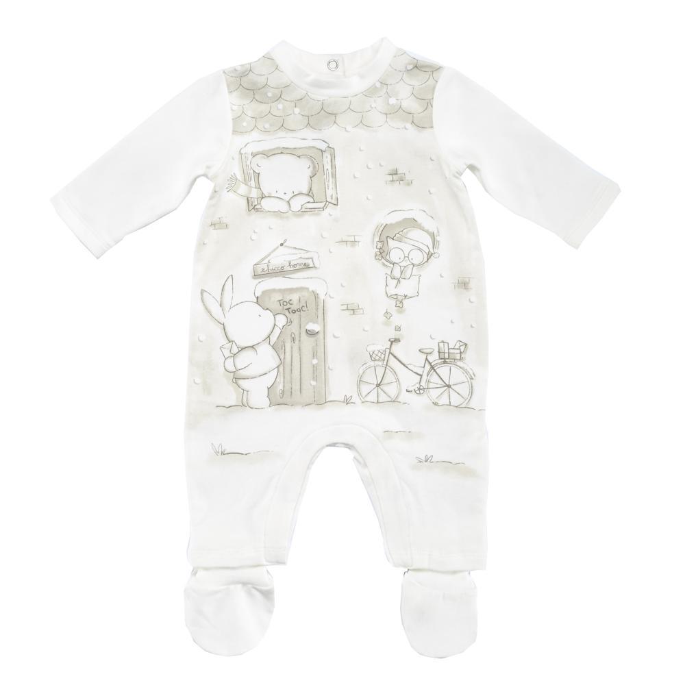 Salopeta bebelusi Chicco, deschidere scutec, fara botosei, alb, 21516