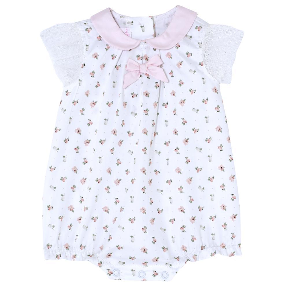 Salopeta bebelusi Chicco, fetite, alb cu roz