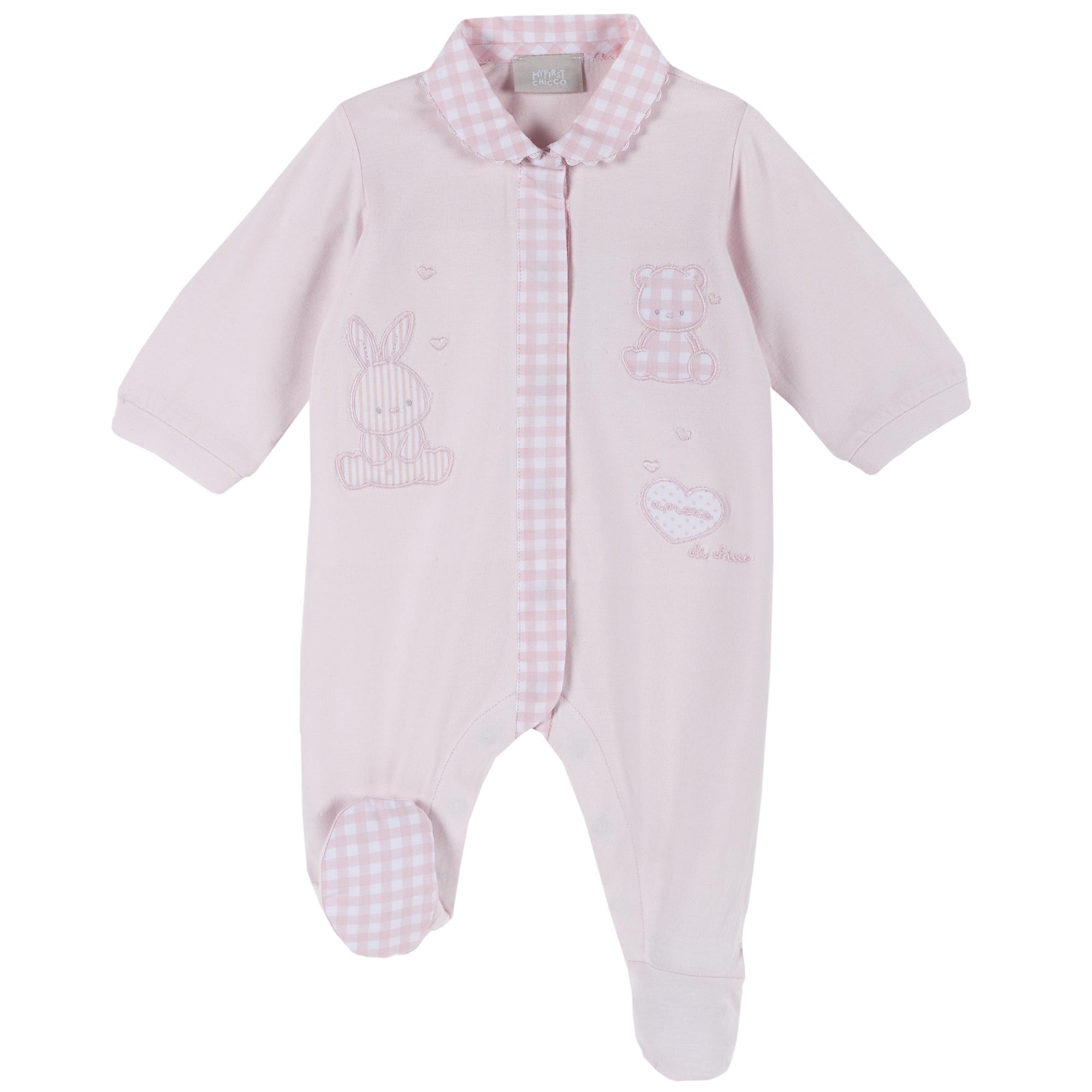 Salopeta bebelusi Chicco, maneca lunga, roz, 21754 din categoria Salopete/Body