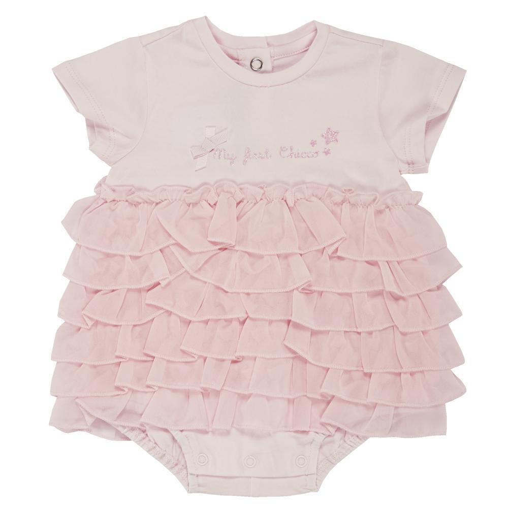Salopeta bebelusi Chicco, scurta, inchidere spate, fetite, roz, 50759