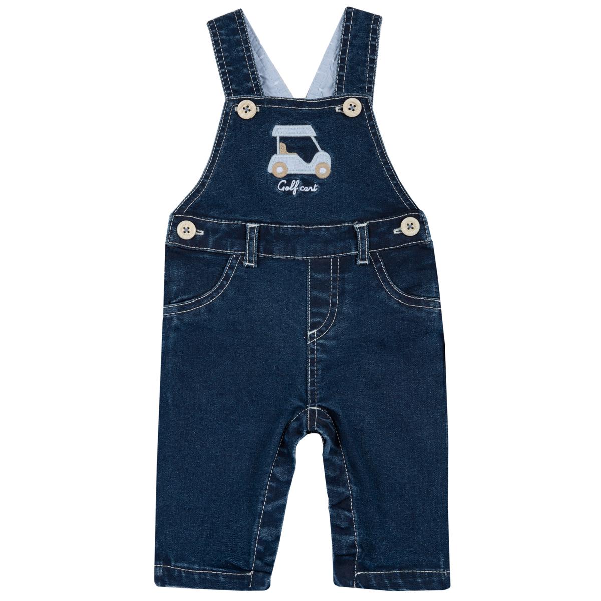 Pantalon salopeta copii Chicco albastru