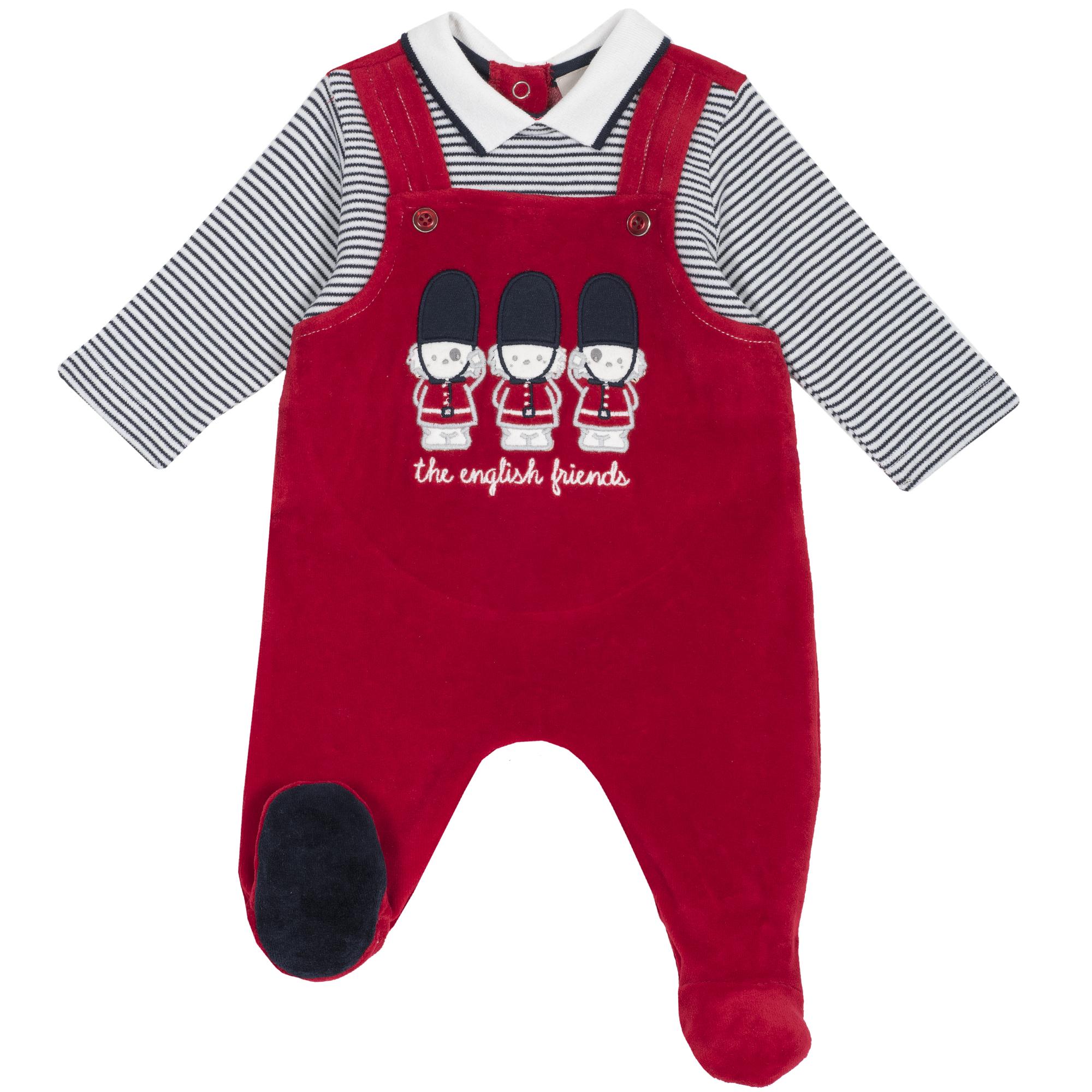 Salopeta copii Chicco, botosei incorporati, imprimeu animale, 21901 din categoria Salopete/Body
