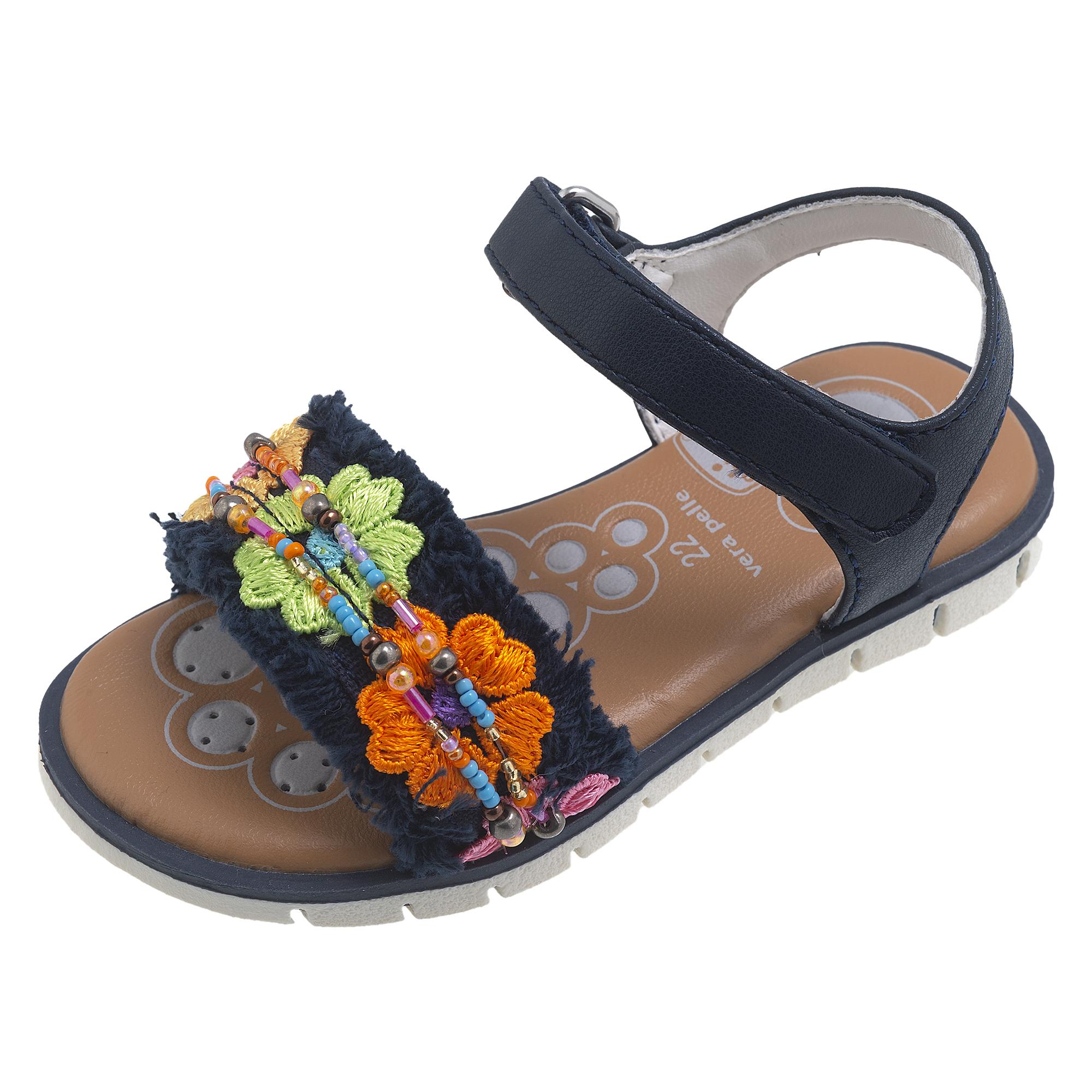 Sandale copii Chicco Cayla, albastru cu model, 65505